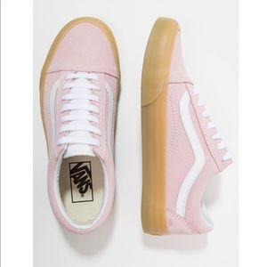 Pink Suede Vans Old Skool Sneakers